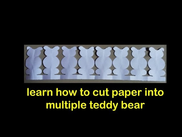 Paper cutting art - paper crafts - teddy bear cutting