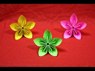 Simple origami flower Kusudama  - How to make origami flowers  very COOL!