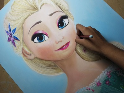 Speed Drawing: Elsa (Frozen Fever) | Diana Díaz