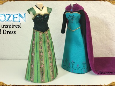 Anna (Frozen) inspired Doll Dress - Fabric Tutorial