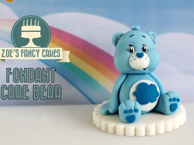 Care Bears: How to make a fondant Care Bear model cake topper blue grumpy Care Bear