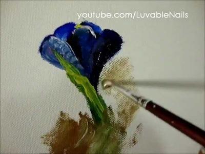 Crocus Oil on Canvas by LuvableNails