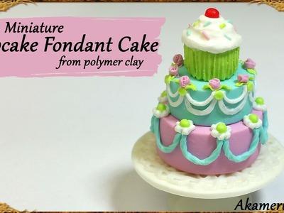Cute Miniature Cupcake Cake - Polymer Clay Tutorial