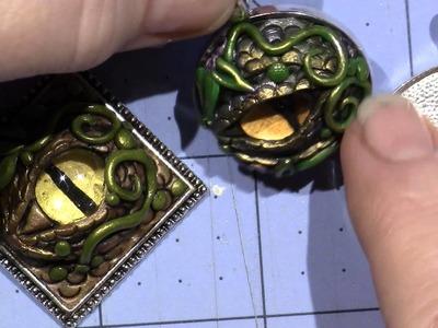 Dragon Eyes with Polymer Clay