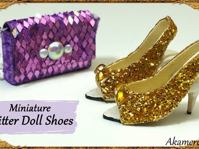 Glittery Doll Shoes - Polymer Clay.Fabric Tutorial