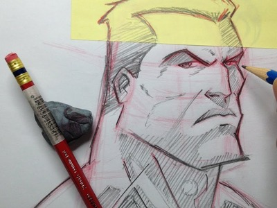 How To Draw A Superhero Head - Tutorial
