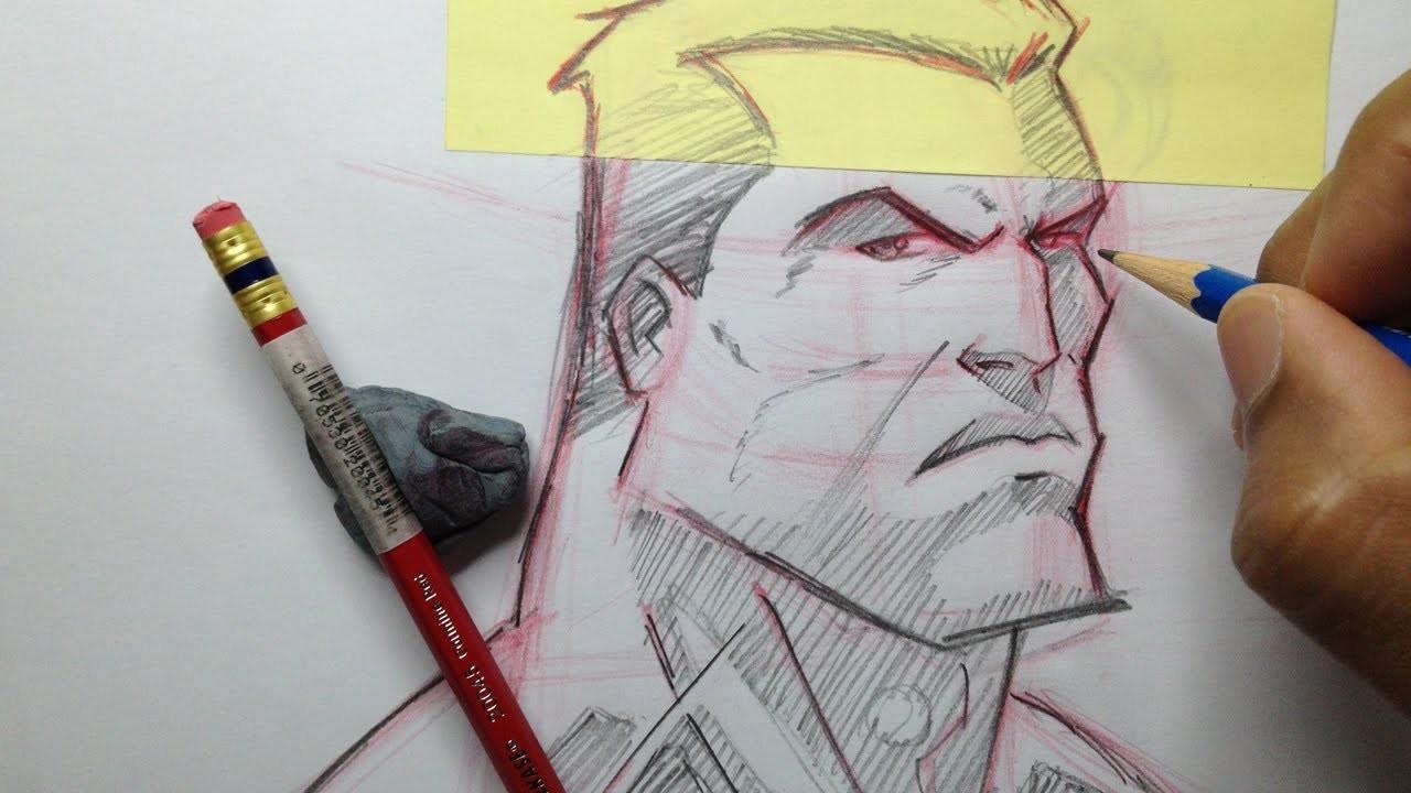 How To Draw A Superhero Head - Tutorial