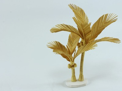 How to make a coconut tree with toothpicks