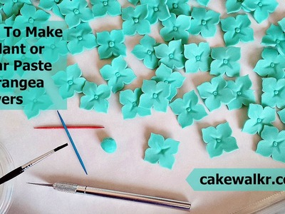 How To Make Fondant or Sugar Paste Hydrangea Flowers