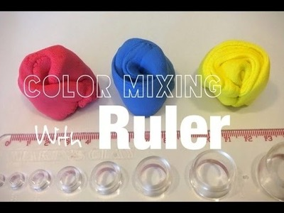 How to Mix Clay Color with Ruler