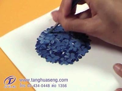 How to paint hydrangea