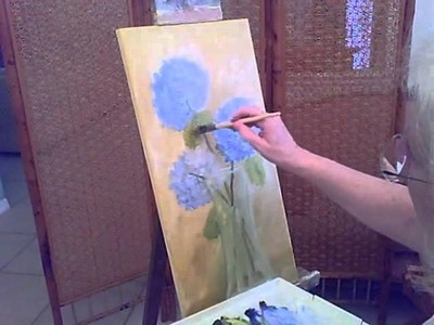 How to paint Hydrangeas-part 2