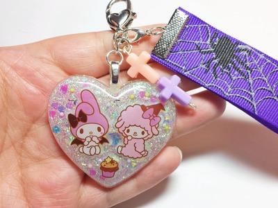 Kawaii Spoopy Resin Keychain   Halloween Crafts
