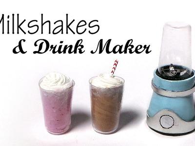 Milkshakes & Drink Maker. Blender - Polymer Clay Tutorial