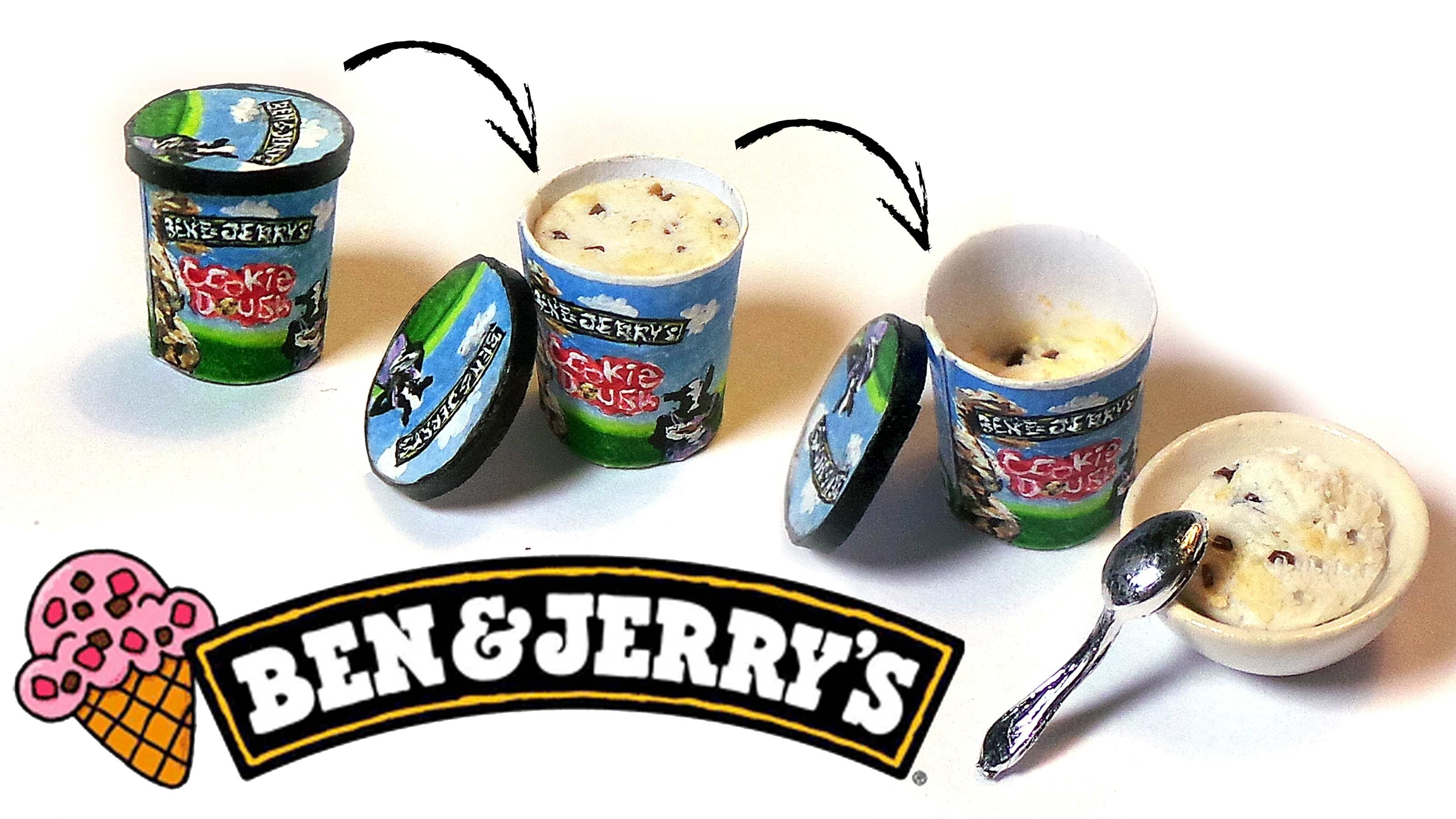 Miniature Ben & Jerry's Ice Cream (Poseable) - Polymer Clay Tutorial