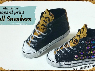 Miniature Leopard Doll Sneakers - Polymer Clay.Fabric Tutorial