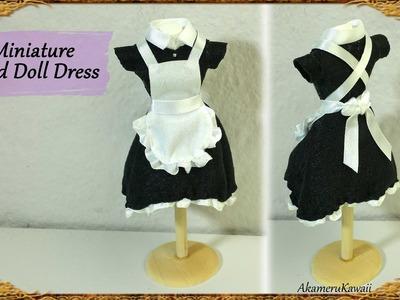 Miniature Maid Doll Dress. Uniform - Fabric Tutorial