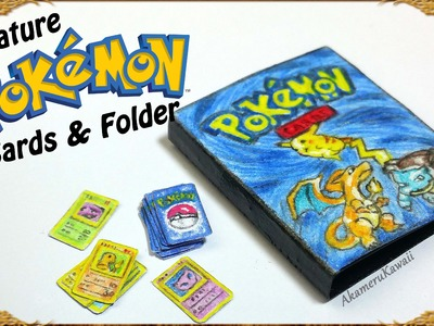 Miniature Pokemon inspired Cards & Folder Tutorial