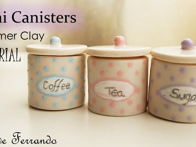 Miniature Polymer Clay Sugar, Tea & Coffee Canisters.Jars Tutorial