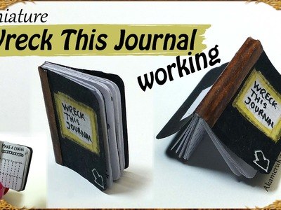 "Miniature ""Wreck this journal"" - Paper Tutorial"