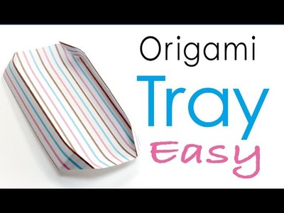 Origami Paper Plate (Paper Tray) Easy - Origami Kawaii
