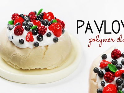 Polymer clay Pavlova Cake tutorial | polymer clay food