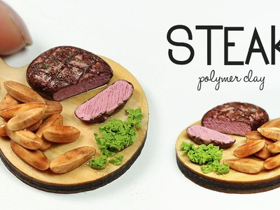 Polymer clay Steak & potato wedges TUTORIAL | polymer clay food