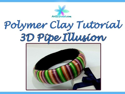 Polymer Clay Tutorial -  3D Pipe Illusion - Lesson #45