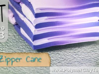 Polymer Clay Zipper Cane Mini Tutorial