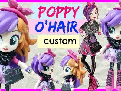 Poppy O'Hair Ever After High Custom Equestria Girls Minis Rainbow Dash My Little Pony