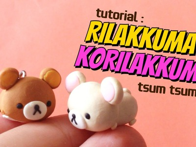 Rilakkuma & Korilakkuma Tsum Tsums | Polymer Clay Tutorial (Easy) | Collab w. Craftiebunnies