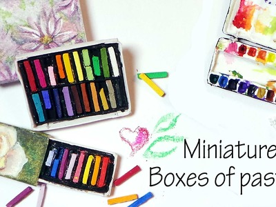 Tiny Art Supply Tutorial ; Box Of Pastels (That work)