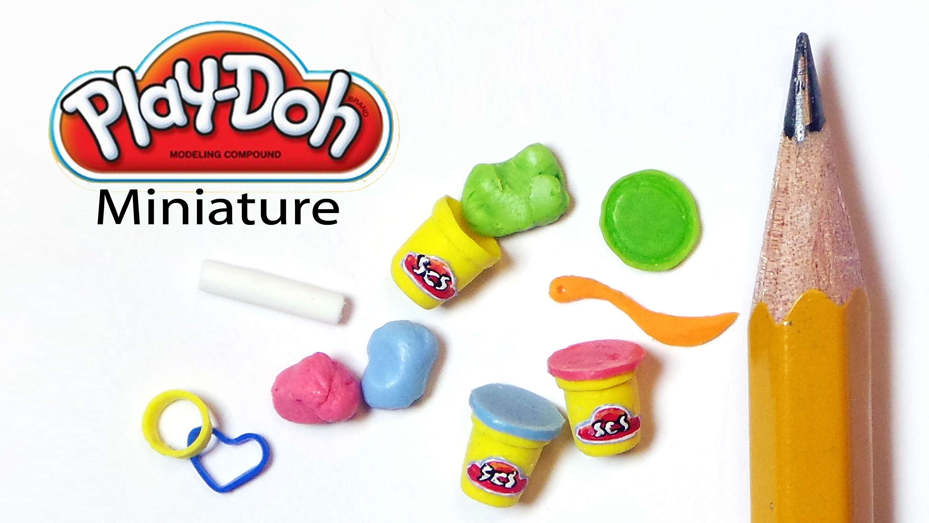 Tiny Play-Doh Inspired Polymer Clay Tutorial