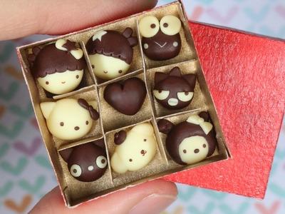 [Valentine's Day] Miniature Sanrio Chocolate Polymer Clay Tutorial