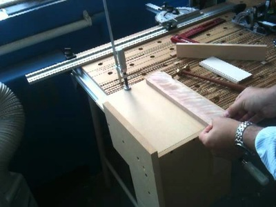 A simple jig for using the Festool domino when making drawer joinery