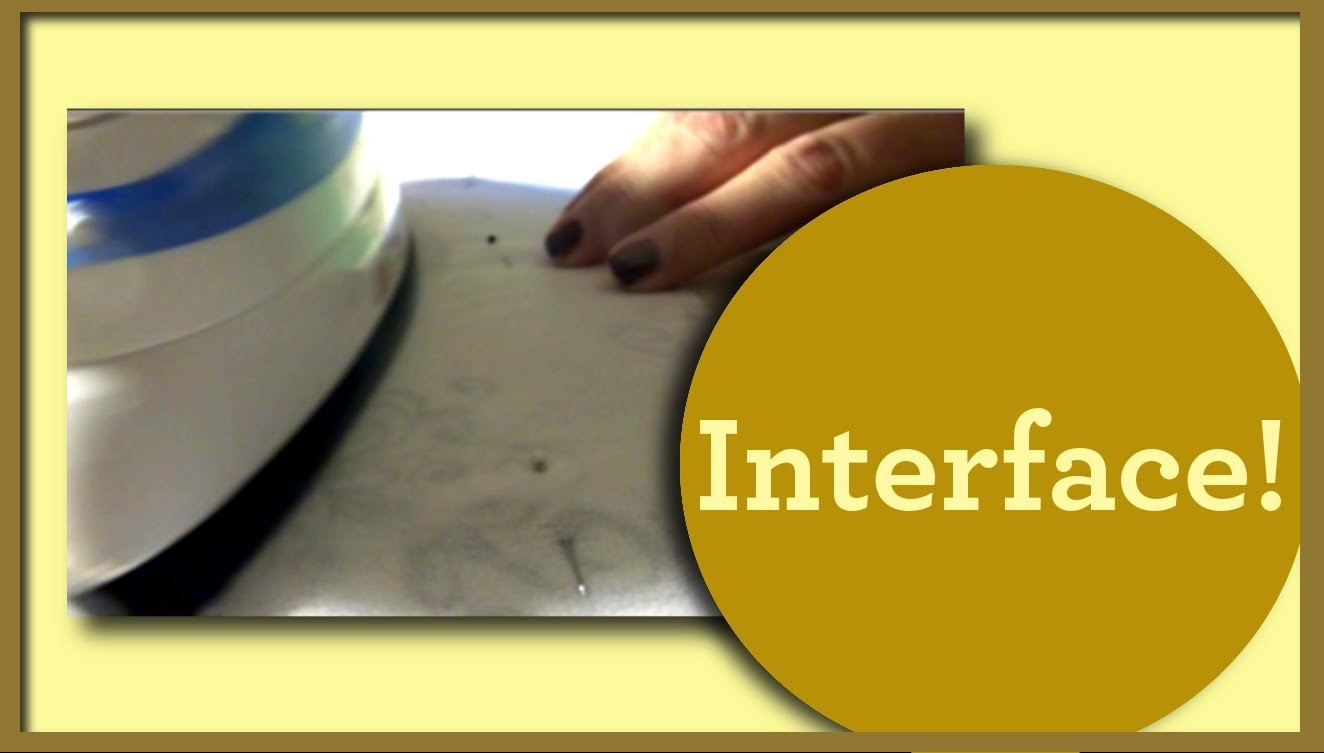 Basic Structure and Adding Fusible Interface - 50s Style Halter Top (Part 4) - So Sew Vintage