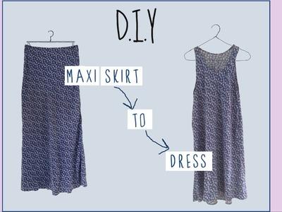 DIY Maxi Skirt to Dress