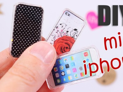 DIY miniature iPhone (design your phone case)