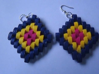 Handmade Jewelry - Paper Quilling Diamond Earrings (Petal Pieces)