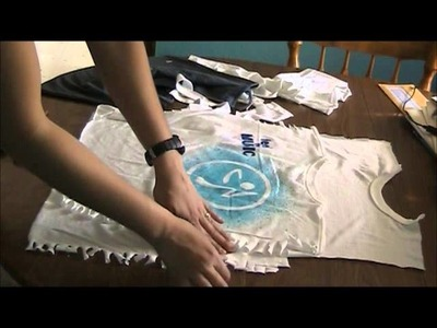 How to cut a Zumba t-shirt into a halter top.