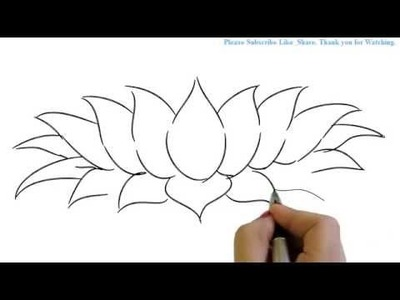 How to Draw a Beautiful and simple Lotus in Easy way