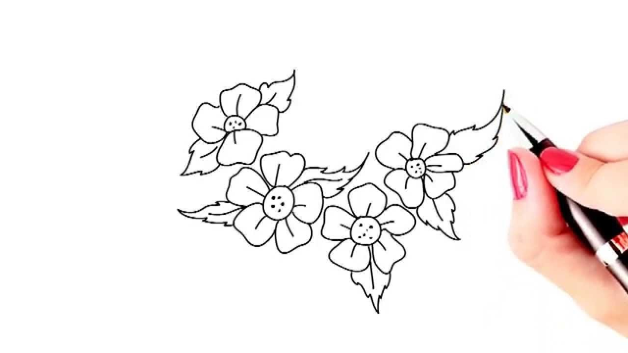 How To Draw Beautiful Flowers Easy And Simple Drawing