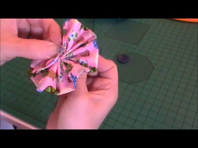 How to make a fabric ruffle flower