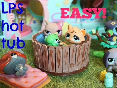 How to make an LPS hot tub with water | Easy LPS Crafts