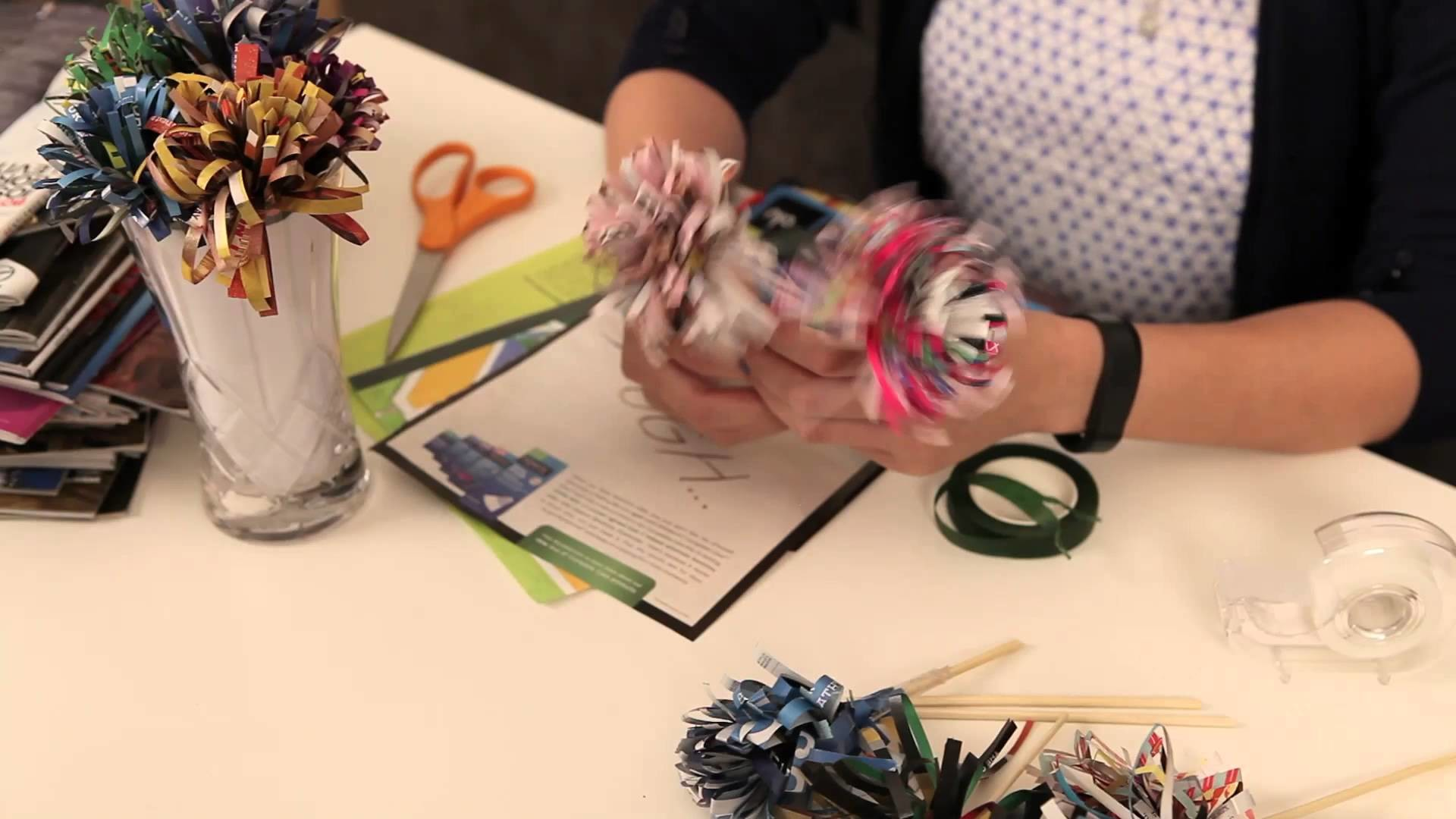 How to make Magazine Flowers. IS IT AS EASY AS IT LOOKS?