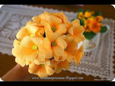 [How to make] Tagetes patula paper flower
