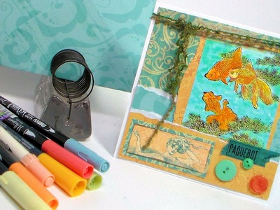 Idea For Using Photo Paper in Cardmaking. No Template Envelope. Stamp School