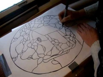 Nancy Today: tracing with carbon paper for stained glass ASMR