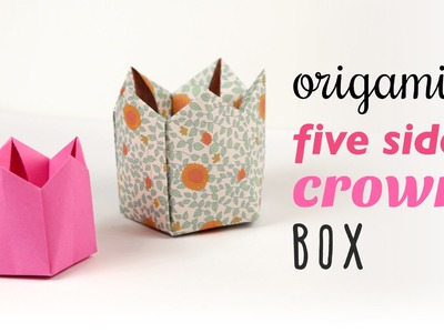 Origami 5 Sided Crown Box. Lid Tutorial ♥︎ DIY ♥︎