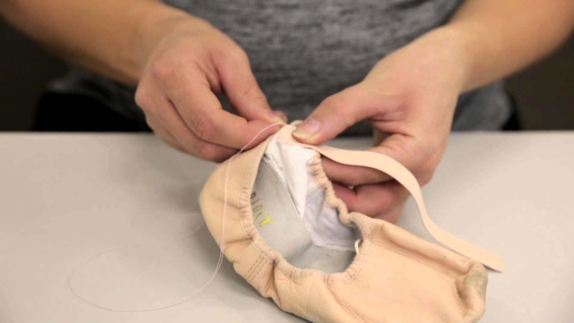 Premier School of Dance: How to sew elastics on flat ballet shoes